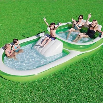 Swimming Pool Above Ground Inflatable Outdoor Family Adult Kids Water Pad Set