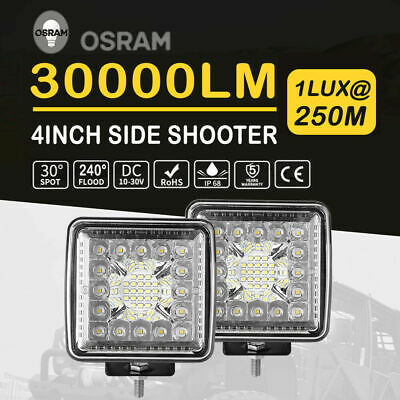 "4"" Side Shooter LED Light Pod 110W CREE Work Light Bar Spot Flood Combo 6000k AU"