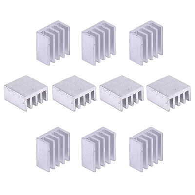 10pcs Aluminum Heat Sink Fin for Computer Memory Chip Power IC LED 8.8X8.8X5mm