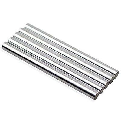 DYWISHKEY Linear Motion Shaft 8mm X 100mm Round Hardened Lathe Bar Rod (5Pcs)