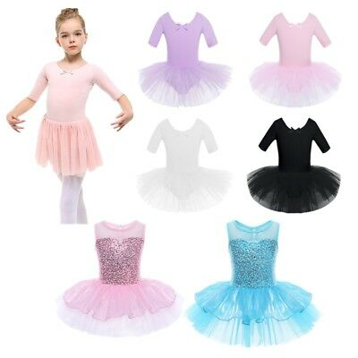 347105f4e GIRLS KIDS BALLET Leotard Dance Tutu Skirt Dress Ballerina Costume ...