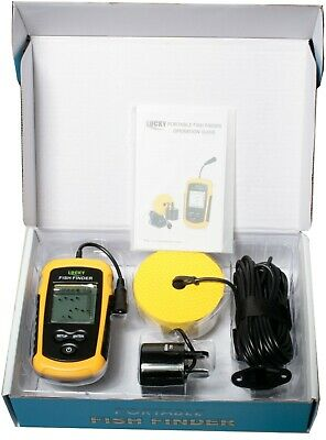 Portable fish finder to 100m battery power pocket 45 degree kayak river yacht