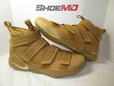 64472f6b7ca NIKE LEBRON SOLDER Xi 11 Sfg Wheat Gold Brown 897646 700 Size 13 New Ds Lbj  -  84.00
