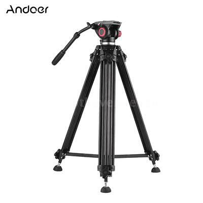 Andoer PRO Video Camera Tripod with Fluid Hydraulic Head for DSLR Canon Nikon