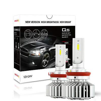 2X H7 172500LM LED Headlight Bulbs Low Beam Conversion Globes Kit Driving lamp