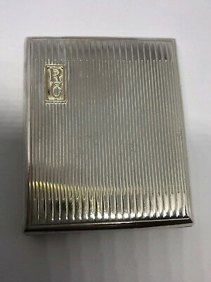 Vintage Sterling Silver Matchbox Holder - Asprey & Co - London - 1934