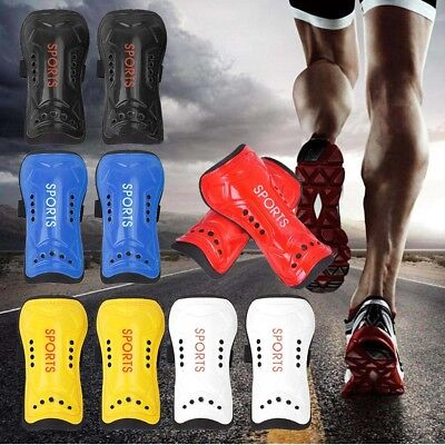 Football Soccer Shin Guards Pads Shinguards Ankletector Support Boys Youth !
