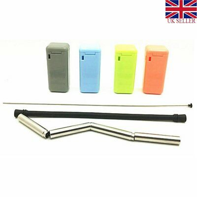 Food-grade Drinking Straws Final Reusable Foldable Stainless Steel Straw Portabl
