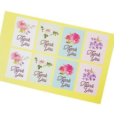 Stickers - Thank You - Lovely Floral - Set of 24
