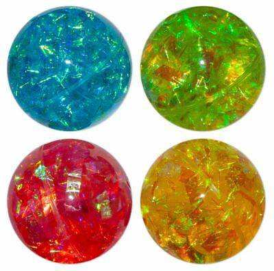LED Flash Ball 5,5 cm Licht glitzernd 4 Farben Hüpfball Bunt Springball Flummi