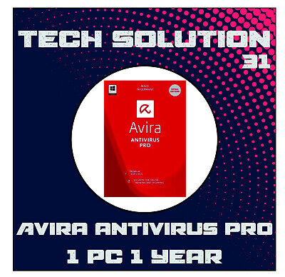 Avira Antivirus Pro 2019 | 1 DEVICE | 1 YEAR WIN or Mac+Support+Proof of Genuine