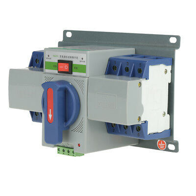 63A 220V MCB Type 3P Dual Power Automatic Transfer Switch ATS Circuit Breaker