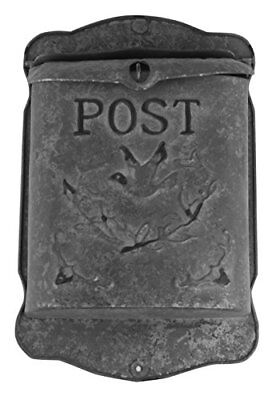 Galvanized Metal Post MailBox Wall Mounted Rustic Post Box Durable Country Style