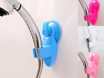 Adjustable Bathroom Shower Head Holder Wall Bracket Vacuum Suction Cup-Mount