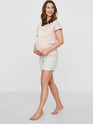 Maternity Pyjamas Shorts Lilac Summer Hospital Bag Size 10 12 14 & 16 £32 RRP