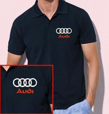 Camiseta Polo Bordado Logo Audi Coches Regalo Ideal Varios