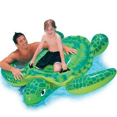 Large Big Huge Kids Swimming Water Beach Lilo Toy Ring Large GREEN TURTLE 1.2m
