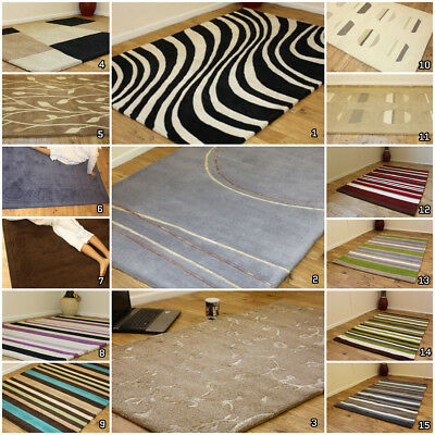 New Heavy Weight Pure Wool Thick Warehouse Clearance Indian Wool Rugs On Sale