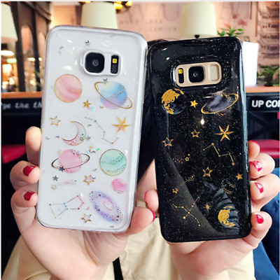 Protective Bling Space Tpu Rubber Case Phone Cover for Samsung Galaxy S8 S9 Plus