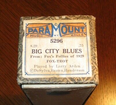 Big City Blues From The Follies Of 1929 Original Piano Roll 0718