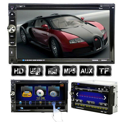 "7"" Touchscreen Stereo DVD/CD/MP5 Player Doppel-2 DIN In-Dash Bluetooth Autoradio"