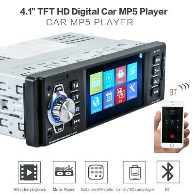 "4,1"" HD Autoradio Auto MP5 DVD Player In-Dash Stereo FM Radio USB SD MMC 1 DIN"