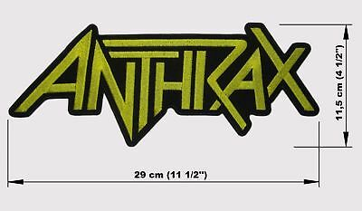 ANTHRAX logo BACK PATCH embroidered NEW thrash metal