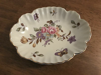 Vintage Lefton China Hand Painted 759 Butterfly Dish