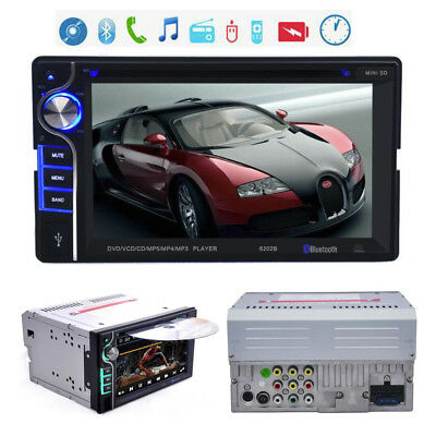 "6,2"" Doppel-2DIN Bluetooth Autoradio In-Dash Stereo Car SD DVD CD MP5 Player DE"