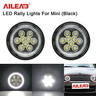 Black LED Halo DRL Rally Driving Light For Mini Cooper S R56 R57 R58 R59 R60 R61