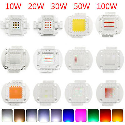 10W 20W 30W 50W 100W LED COB SMD Chip Cool Warm White Alta potencia Luz Lámpara