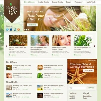 Alternative Medicine Ecommerce Website Business For Sale. 1-Click Install.