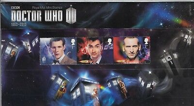 2013 50Th Anniversary Dr Who Presentation Pack No 482 With Mini Sheet