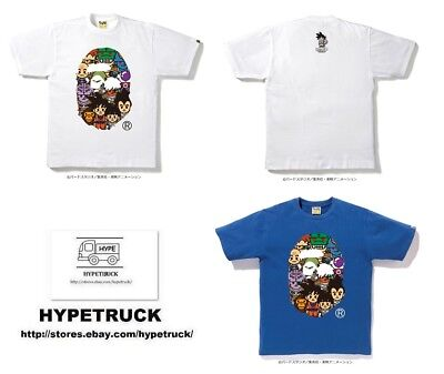 5107d37e A BATHING APE Men's BAPE x DRAGON BALL Z TEE #8 BIG APE HEAD Blue ...