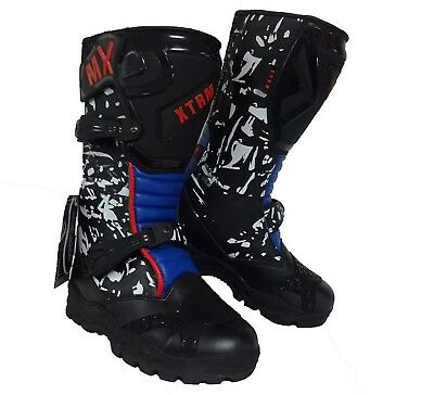 Wulfsport Cub Max Equipe Boots Black Leather Size 28