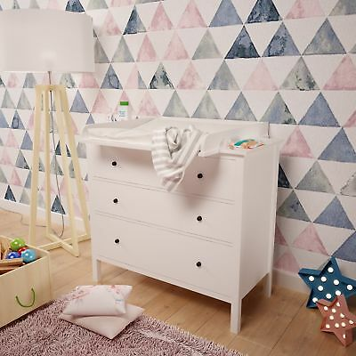 Polini Kids Changing unit for chest of drawers Hemnes IKEA in white, 1412.9