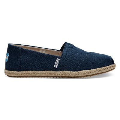Toms Womens Classic Canvas Espadrille Navy