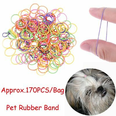 Approx.170PCS/Bag Pet Rubber Band Elastic Stretchy No Stick Hair Dog Headband