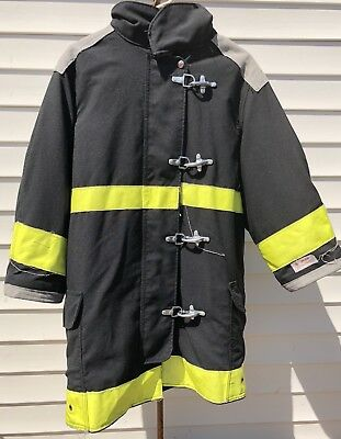 Body Guard Firefighter Turnout Coat / Jacket Size 38x35x30 Black Yellow TFC