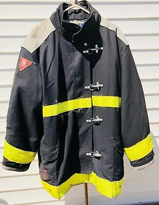 Body Guard Firefighter Turnout Coat / Jacket Size 50x35 Black Yellow TFC