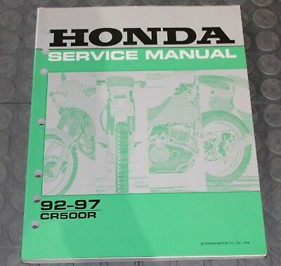 NOS OEM Honda Service Shop Manual NEW 92-97 CR500R CR 500 R