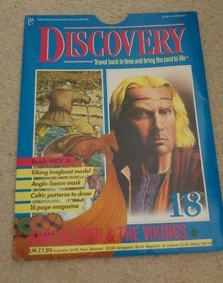 Discovery vintage history magazine King Alfred & The Vikings Marshall Cavendish