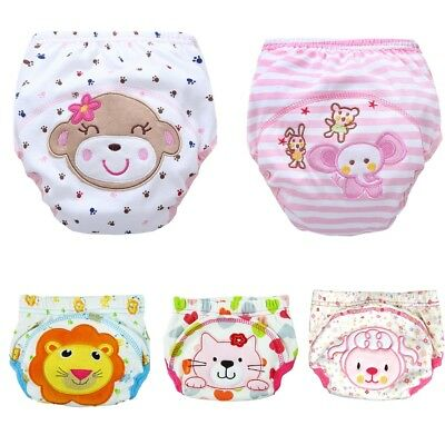Kids Potty Training Pants Boys Girls Reusable Washable Nappy Diaper Underwear