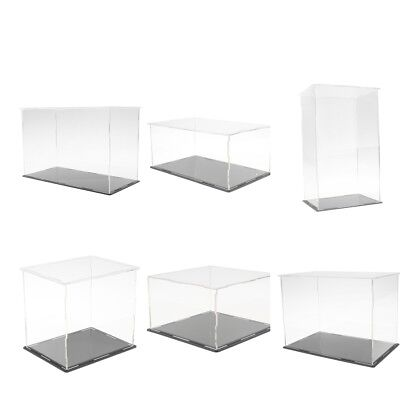 Acrylic Display Box Perspex Case Self-Assembly Plastic Base Dustproof for Model