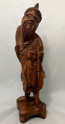 Antique Chinese Carved Hard Wooden , Farmer, Bee Keeper  Qing  Dynasty Era ?12""