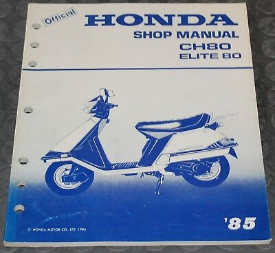 NOS OEM Honda Service Shop Manual NEW 85 CH80 ELITE 80 CH 80
