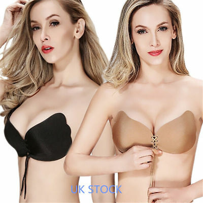 Push-Up Silicone Invisible Strapless Backless Self-Adhesive Magic Stick Bra HOT
