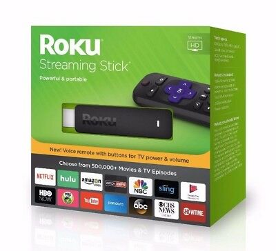 Roku 3800R Streaming Stick Latest Model 2017, Remote Control & Voice Search