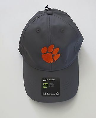 8133b1f58c0e0 ... cheap clemson university nike baseball golf cap hat gray unisex velcro  adjustable 8b37e 28b36