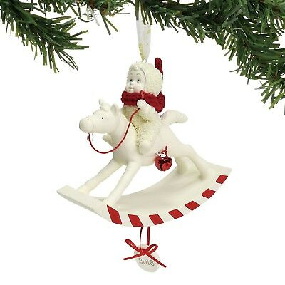Snowbabies 2018 Dated Christmas Ornament 'Peppermint Pony' Department 56 6001888